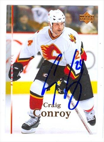 Autograph Warehouse 36991 Craig Conroy Autographed Hockey Card 2007-2008 Upper Deck