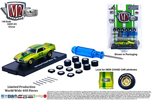 (M2 Machines Limited Edition Gold Chase Piece 1968 Pontiac Firebird 400 H.O. Auto-Wheels Release 3 2015 Castline Premium Edition 1:64 Scale Die-Cast Vehicle Kit ( 1 of only 400 Pieces ))