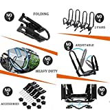 2 Pair Folding J-Style Kayak Carrier for Roof Racks