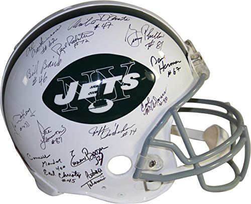 1969 New York Jets Team Signed Authentic 65-77 Throwback Helmet (22 Signatures) - Steiner Sports Certified