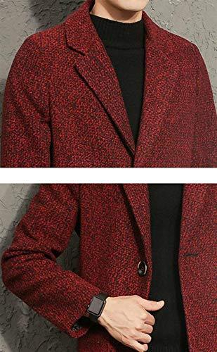 Moda Front Hombres De Los Cremallera Los Los De Fit Leisure Ntel Los Rot De 2XL Stand Regular Cierre Color De Collar Hombres Hombres Coat Casual Largo Size Hombres Modernas SxxqPwCH5