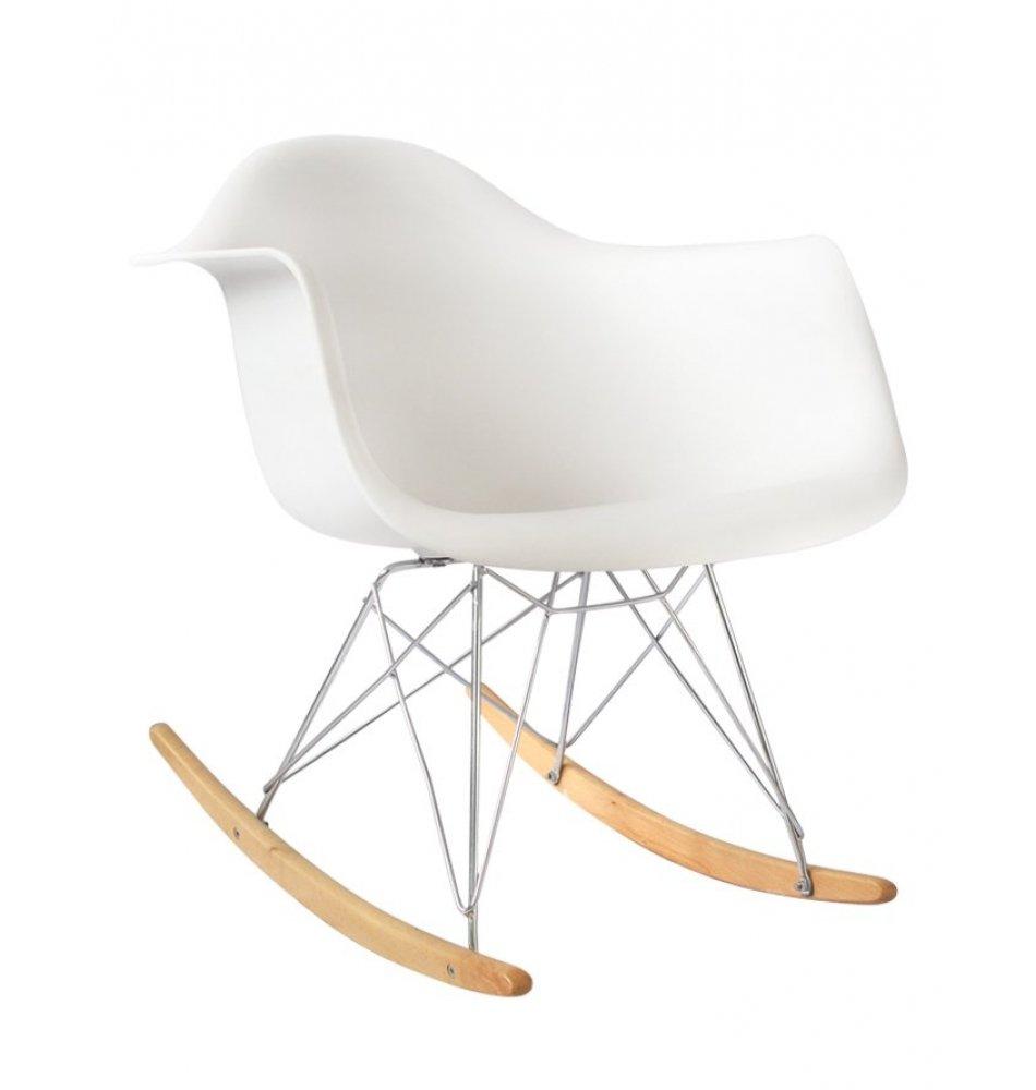 Plata Import PC-018R-2 White Rocker Chair (Set of 2), Single Plata Décor Import