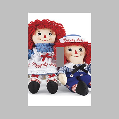 RAGGEDY ANN AND ANDY- SINGLE Light Switch Plate / - Light Andy