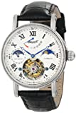 Image of Ingersoll Men's IN5101WH Sonoma Tourbillon Stainless Steel Automatic Watch with Black Leather Band