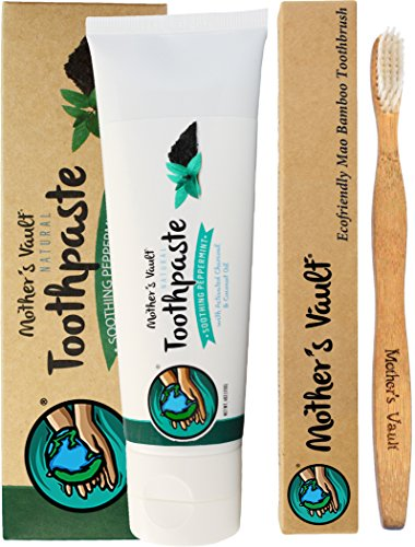 Mothers Peppermint Toothpaste Eco friendly Toothbrush product image