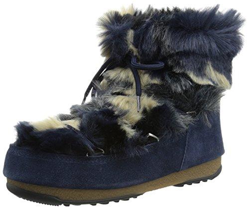 Tecnica Womens Månen Vi Låg Fuskpäls Vinter Mode Boot Blå
