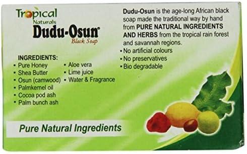 Lote de 6 jabones Tropical Naturals Dudu Osun, color negro: Amazon ...
