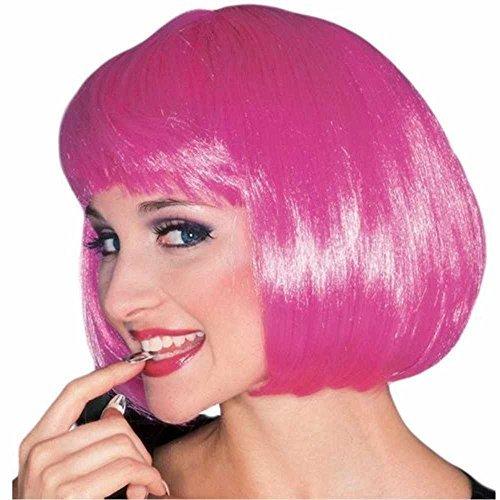 Sexy Super Model Adult Wig (Pink Super Model Wig)