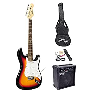 Pyle-Pro Pegkt15sb Beginner Electric Guitar Package, Sun Burst