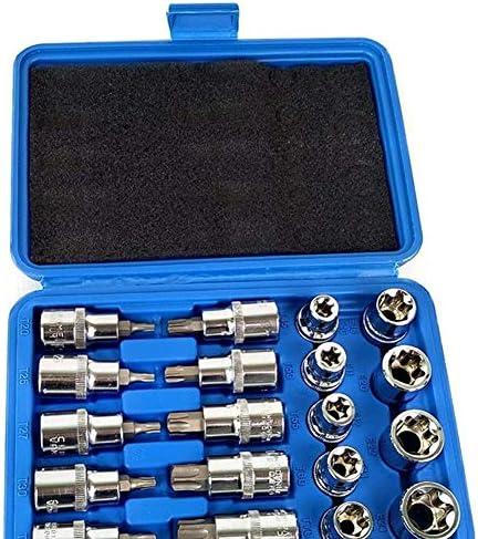 """19pcs 1/2"""" Socket Set Antrieb Stern Sockel Bit Socket Sets Repair Tools Kit External E10-E24 Torx T20-T70 Socket Set mit Aufbewahrungskoffer Haushalts Werkzeuge"""