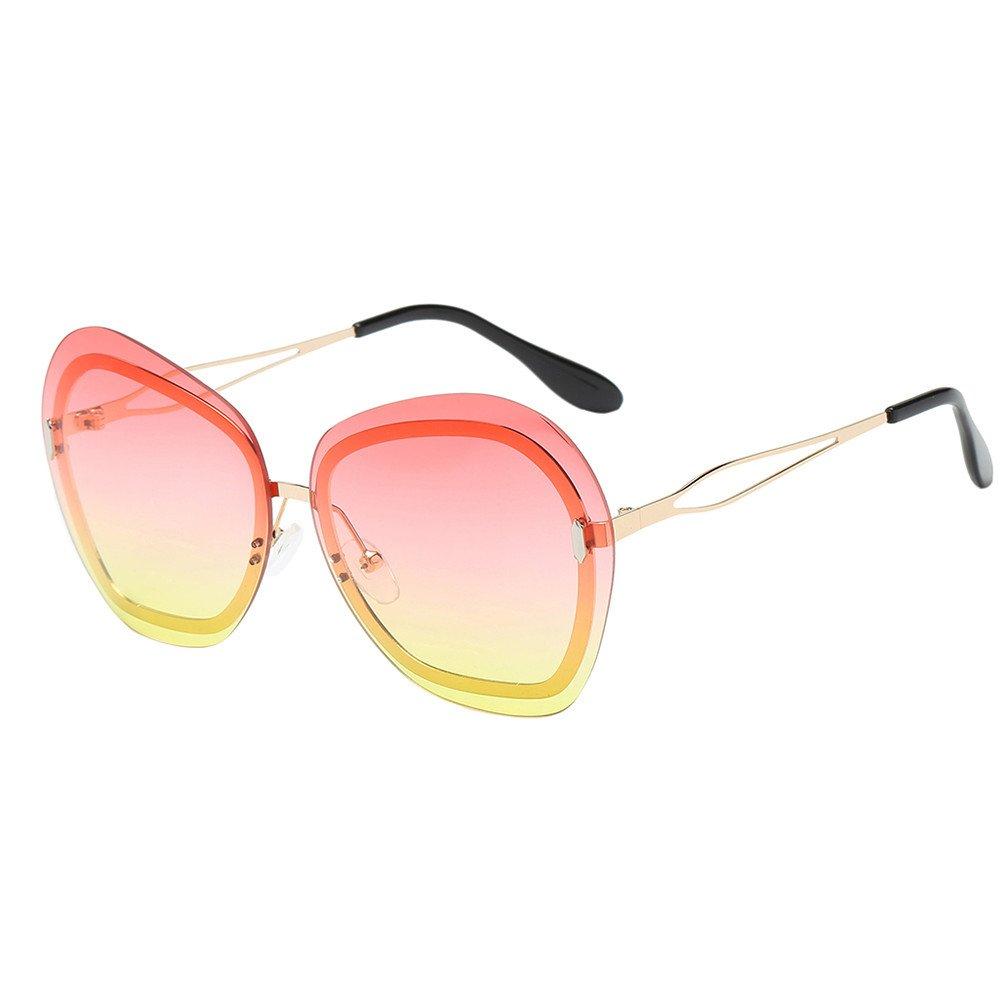 AMOFINY 2019 Fashion Glasses Womens Irregularity Frame Shades Acetate Frame UV Sunglasses