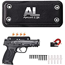 ApicalLife Magnetic Gun Mount | 35 Lbs Rated Gun Magnet | Covered with Neoprene Home and Vehicle Truck Car Holster |Concealed Holder Storage for Handgun, Rifle, Shotgun, Pistol, Revolver