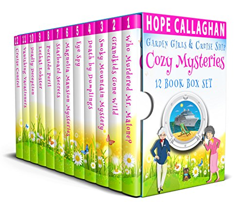 Cozy Mysteries 12 Book Box Set: Garden Girls & Cruise Ship Cozy Mystery Series cover