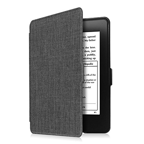 Fintie Slimshell Case for Kindle Paperwhite - Premium Fabric Cover with Auto Sleep/Wake for All-New Amazon Kindle Paperwhite (Fits All Generations), Denim Charcoal