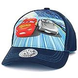 Trendy Apparel Shop Boys Kid's Lightning McQueen Speed Cars 3D Pop Baseball Cap - Navy