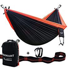SEGMART Hammock- Portable Double Ultralight Camping, Hiking and Backpacking Parachute Hammocks with Tree Straps and Carabiners Top-Grade Quality