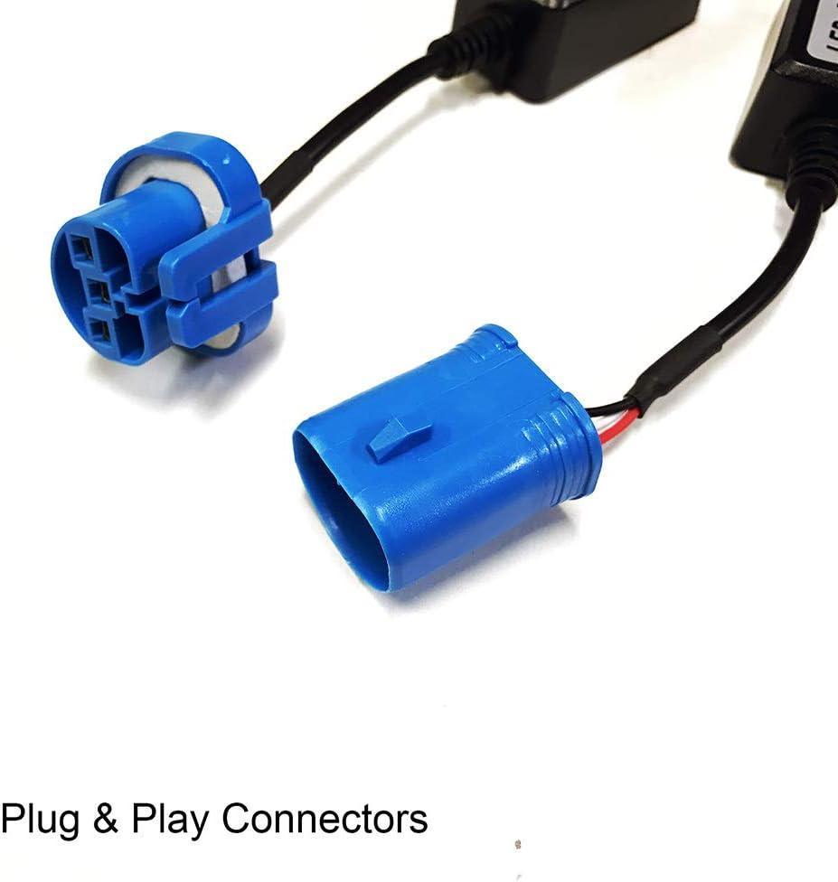 Ballast Resistors SOCAL-LED 2x H4 9003 LED Decoder Upgraded Strong ...