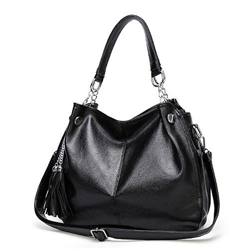 Satchel GWQGZ Americano Moda De Black Gran Europeo Capacidad Nuevo Gules Bolso De Bolso Y Bag qq48xS