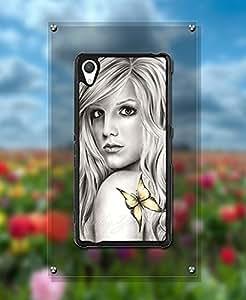 Britney Spears-Singer Apple Sony Z2 Funda Case {Ultra Slim} +{Hard Plastic} Cover Tough Impact Resistant Customized Back for Sony Xperia Z2 (Only for Sony Z2)
