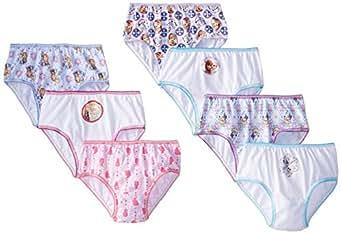 Handcraft Little Girls'  Disney Frozen 7 Pack Panty, Assorted, 8