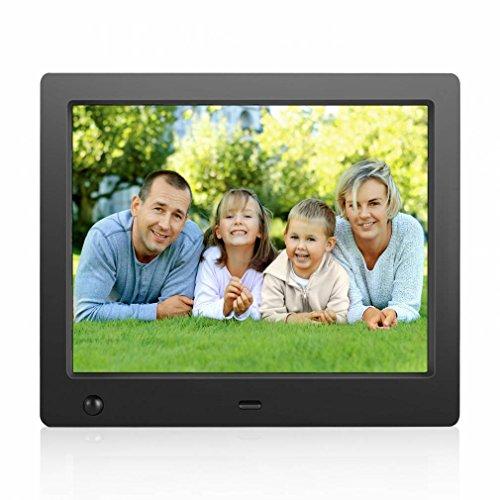 Mieng Den HD Digital Photo Frame,Remote control sensor,Smart Digital Frame,Auto On/Off Timer,Digital photo frame with usb port support 1080P & 720P (8' Album Digital Photo)
