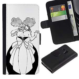 A-type (Danza Hombre Mujer Bola Alcohol divertido) Colorida Impresión Funda Cuero Monedero Caja Bolsa Cubierta Caja Piel Card Slots Para Samsung Galaxy S3 MINI 8190 (NOT S3)