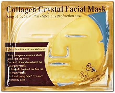 5 Pack oro mascarilla facial cristal Colágeno Anti arrugas, anti envejecimiento, alta humedad Blanqueamiento piel: Amazon.es: Belleza