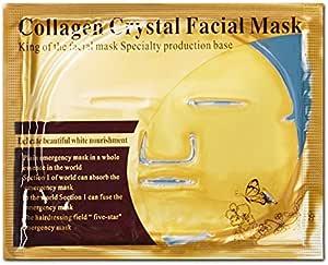 5 Pack oro mascarilla facial cristal Colágeno Anti arrugas, anti ...