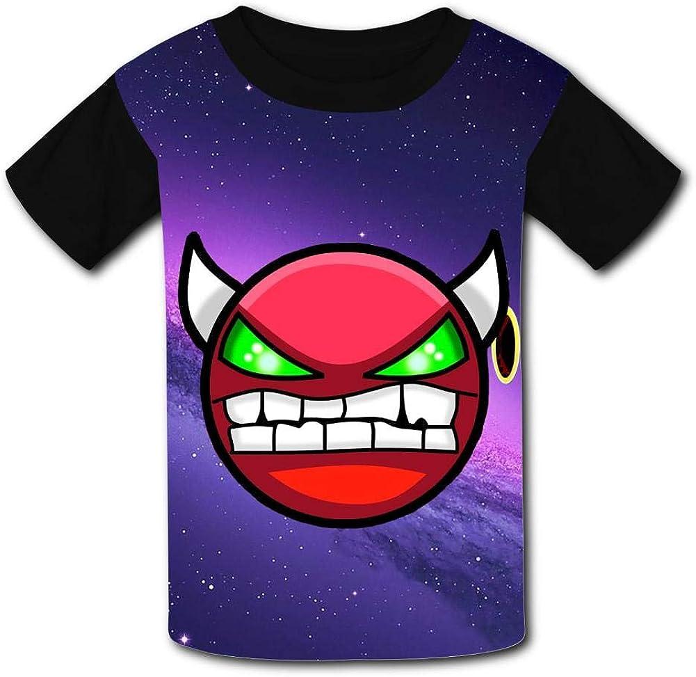 Red Demon Face Geo-metry Da-sh Unisex Kids T-Shirts 3D Printed Fashion Youth T Shirt Tees for Boys Girls