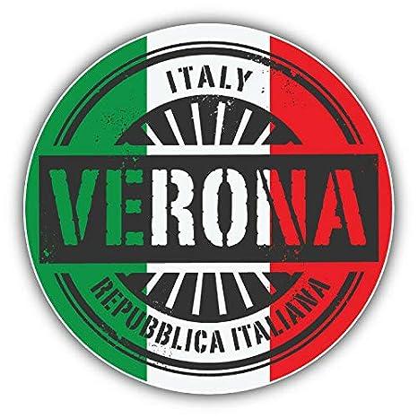 Amazon.com: KW Vinyl Magnet Verona Italy World Flag Stamp ...