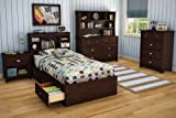 South Shore Willow Collection 4-Drawer Chest, Havana