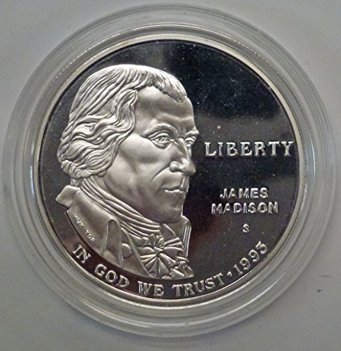 1993 S James Madison Bill of Rights Dollar Proof US Mint ()