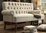Millbury Home Hermosa Tufted Button Upholstered Loveseat,  Beige