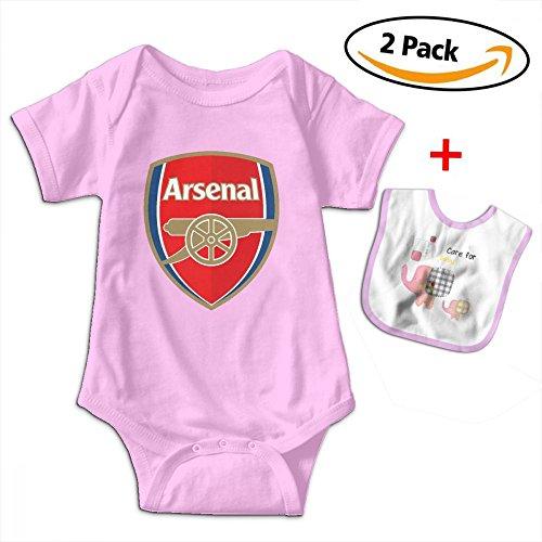 Arsenal Soccer Bodysuit Baby Newborn Infant Baby Clothes T-Shirt Cotton Infant Bodysuit Bib (Cotton T-shirt Bib)