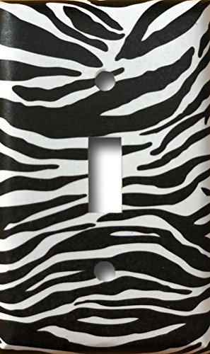 imal Print Safari Decor Decorative Single Toggle Light Switch Wall Plate ()