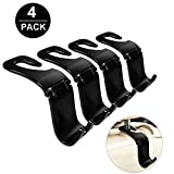 Automotive : OfsPower Car Purse Hook, 4-PCS Trunk Headrest Hanger for Grocery Shopping Bag, Vehicle Seat Back Holder, Foldable Organizer Accessories for Women