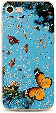 Mano Everainy Funda Compatible para iPhone 7//iPhone 8 Silicona Carcasa TPU Suave Caso Goma Caucho Bumper Delgado Ultrafina Transparente Parachoque Antigolpes Case Cover