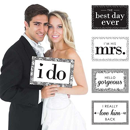 Big Dot of Happiness I Do - Wedding Announcement Photo Prop Kit - 10 Count