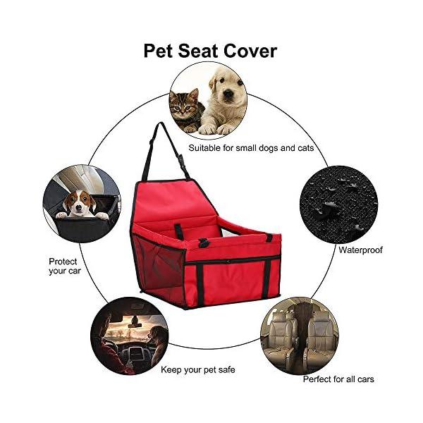 51pUT0EHnuL IvyLife Auto-Hundesitz für Kleine Hunde oder Katzen Transporttasche verstellbar aus Oxford-Stoff Wasserdicht…
