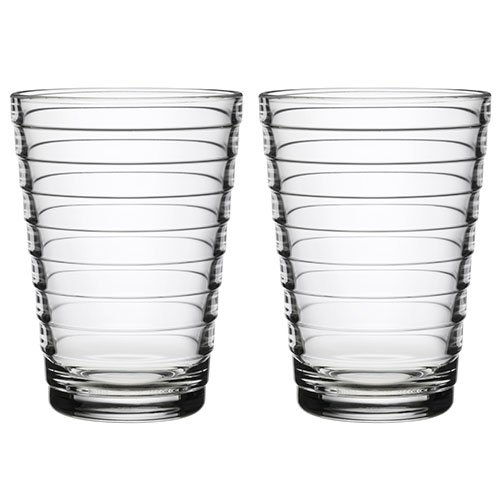 Iittala Aino Aalto 11-3/4-Ounce Clear Tumbler, Set of 2