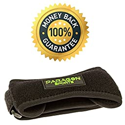Patella Knee Strap for Runnning, Fitness, Stairs Climbing / Adjustable Patellar Tendon Support Band for Basketball, Athletics by Paragon Sports/ Pain Relief for Jumper\'s Knee and Chondromalacia