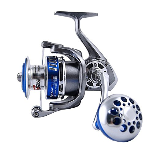 Easy Catch Size 4000-7000 Full Metal Spinning Fishing Reels 12+1 Ball Bearings High Speed Saltwater Spinfisher V Spinning Reel