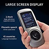 Instant Voice Translator Device Translation 45 Languages Smart 2 Way WiFi 2.4inch IPS Capacitive Touch Screen