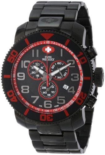 Swiss Precimax Men's SP13035 Verto Pro Black Dial with Black Stainless Steel Band Watch