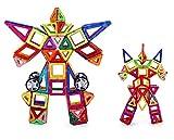 Rrtizan 95 PCS Magnetic Building Blocks Toys Set With Wheels for Kids ...