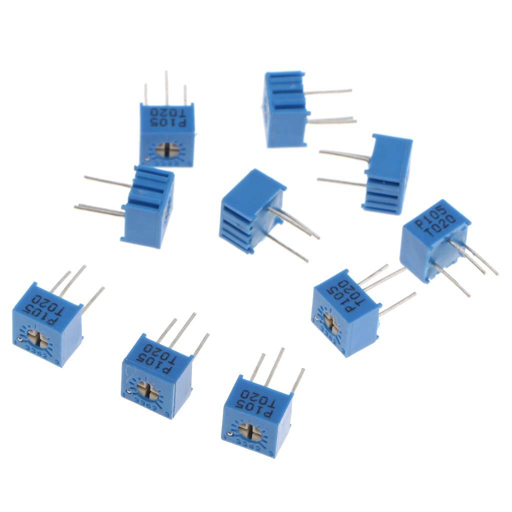 5K impresi/ón 502 10 pcs Potenci/ómetro Cermet Trimmer Ajustable para Electr/ónica Automotriz Equipo de Seguridad