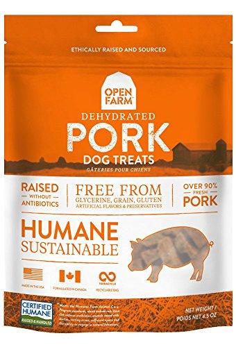 Open Farm Dehydrated Grain-Free Pork Treats 4.5 Ounces