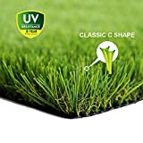 "WMG Premium Artificial Grass 28""x40""Pet Turf w/Drainage Holes & Rubber Backing Green Synthetic Pet Grass Mat Fake Grass for Training Dogs Home Indoor/Outdoor Decorations, 1 Pack For Sale"