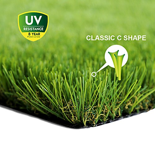 WMG Premium Artificial Grass 28''x40''Pet Turf w/Drainage Holes & Rubber Backing Green Synthetic Pet Grass Mat Fake Grass for Training Dogs Home Indoor/Outdoor Decorations, 1 Pack ()
