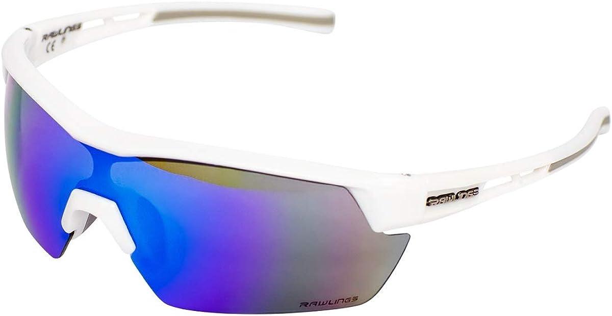 Rawlings 2 Mens Athletic Sunglasses Half-Rim Shades Black//Smoke Lens 10201399